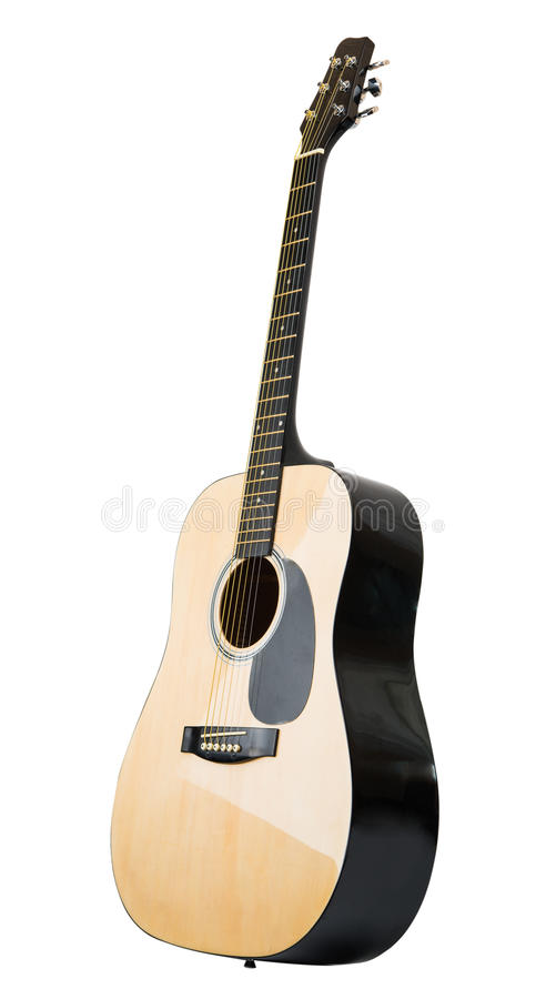 Acoustic guitar isolated royalty free stock photos