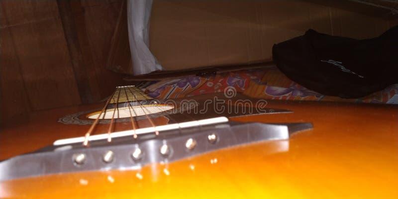 Acoustic Guitar Juarez 38C. Music stock images