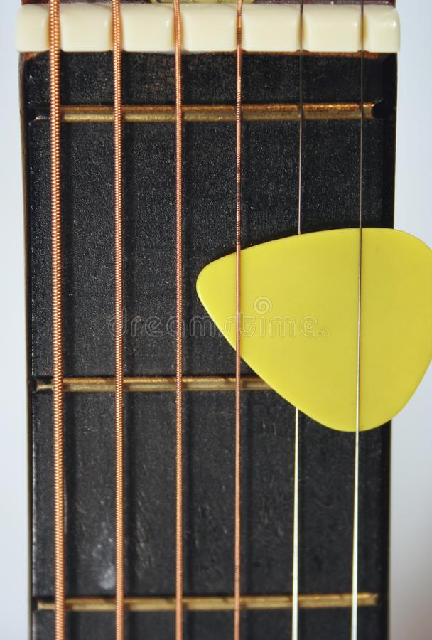 Acoustic Guitar Neck royalty free stock images