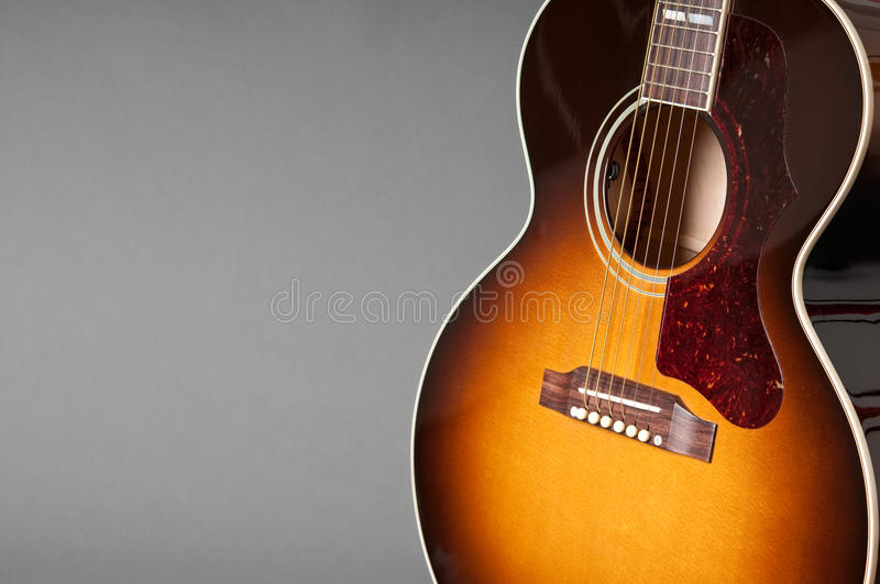Acoustic guitar one royalty free stock photo