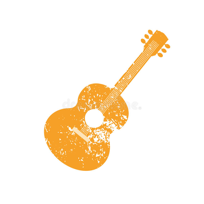 acoustic guitar silhouette stock vector illustration of layout