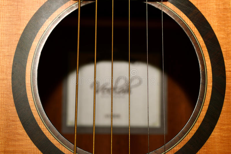acoustic guitar sound hole stock photo image 51215464. Black Bedroom Furniture Sets. Home Design Ideas