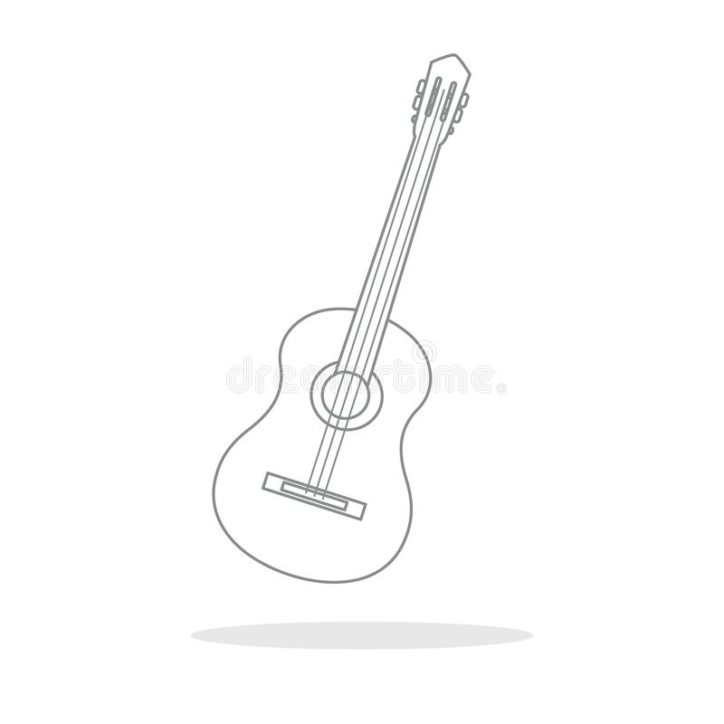 Acoustic guitar. String musical instruments. Vector illustration with guitar. Acoustic guitar. String musical instrument vector illustration