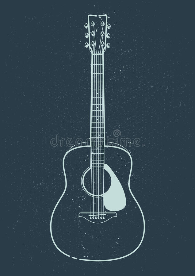 Free Acoustic Guitar Vector Royalty Free Stock Image - 90290756