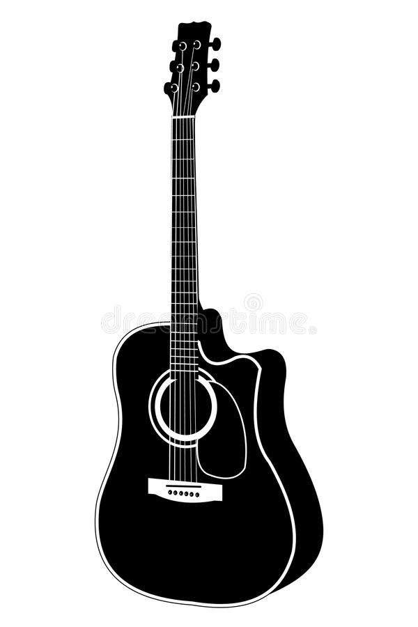 acoustic guitar vector illustration stock vector illustration of rh dreamstime com acoustic guitar silhouette vector free acoustic guitar vector art