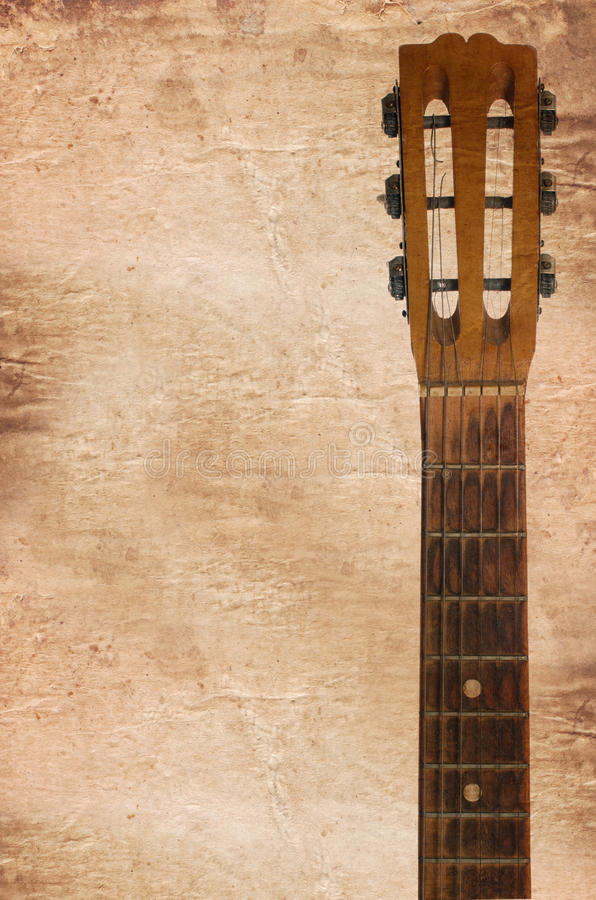 Download Acoustic Guitars Headstock Including Tuning Pegs Stock Image - Image: 19360485