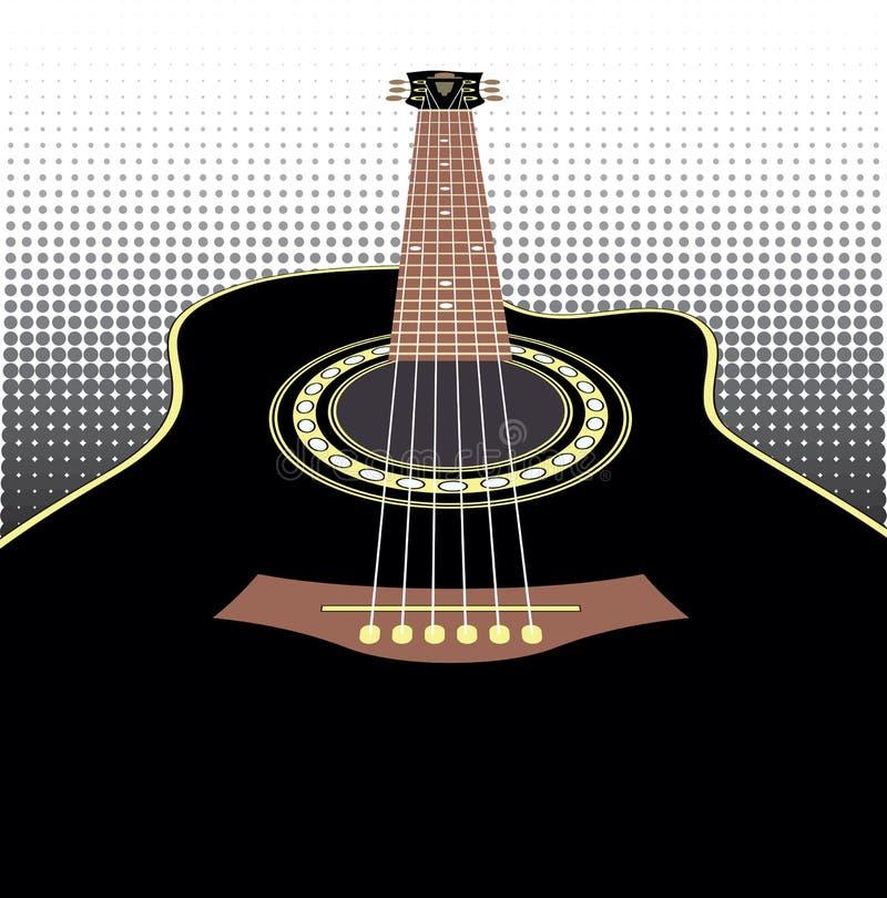 Download Acoustic guitars stock vector. Illustration of folk, black - 34186914