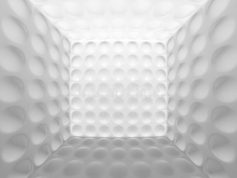 Acoustic room. Perspective, where the walls are made with bubbles vector illustration