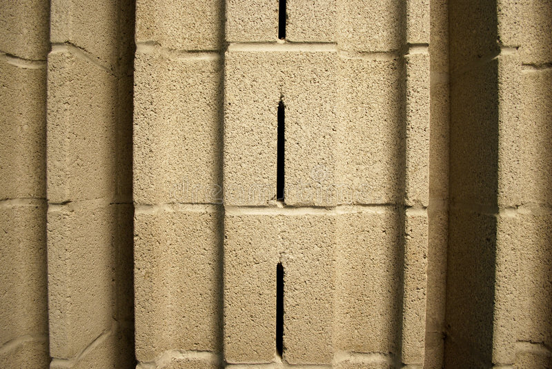 Acoustical Cinder Block Close Up royalty free stock photo