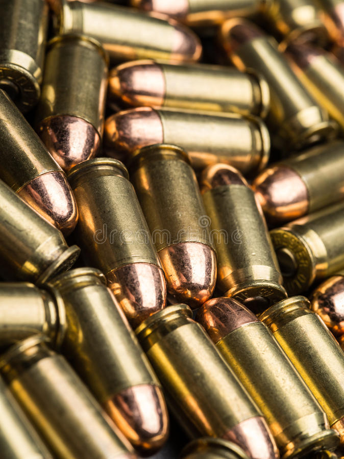 45 ACP-Kugeln lizenzfreie stockbilder