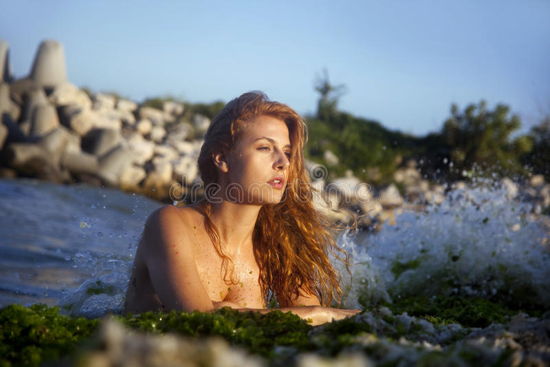 In acqua fotografia stock libera da diritti