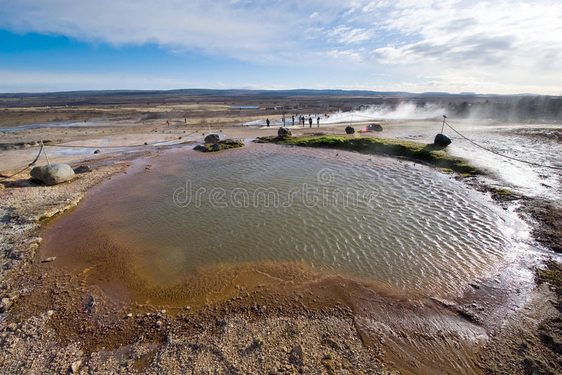 Acqua calda geotermica fotografie stock libere da diritti