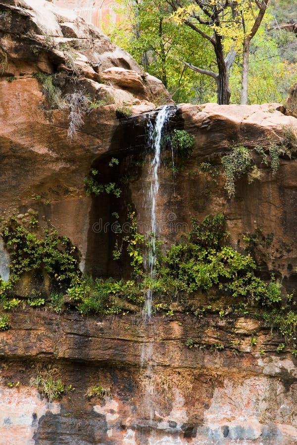 Acqua che cade nel raggruppamento verde smeraldo fotografie stock