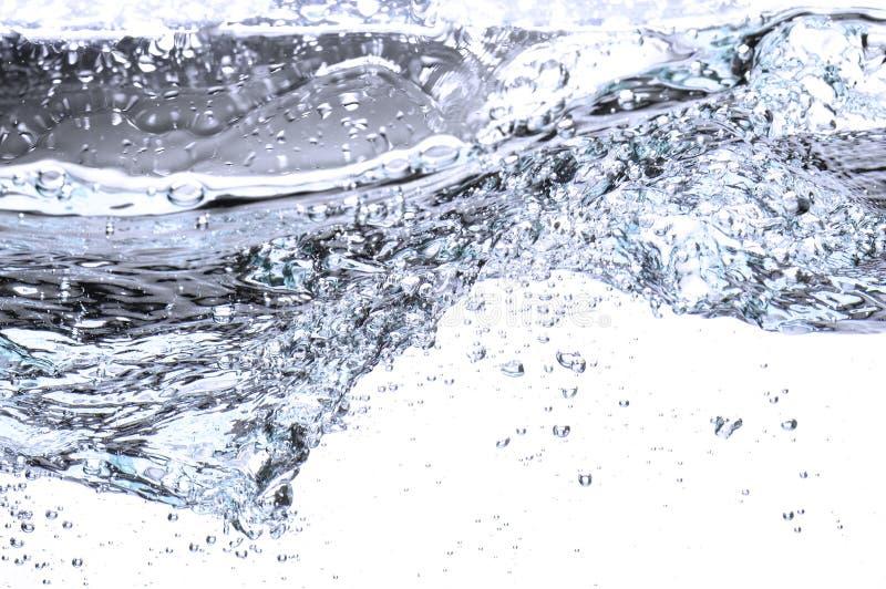 Acqua che entra in tyrbulent immagine stock
