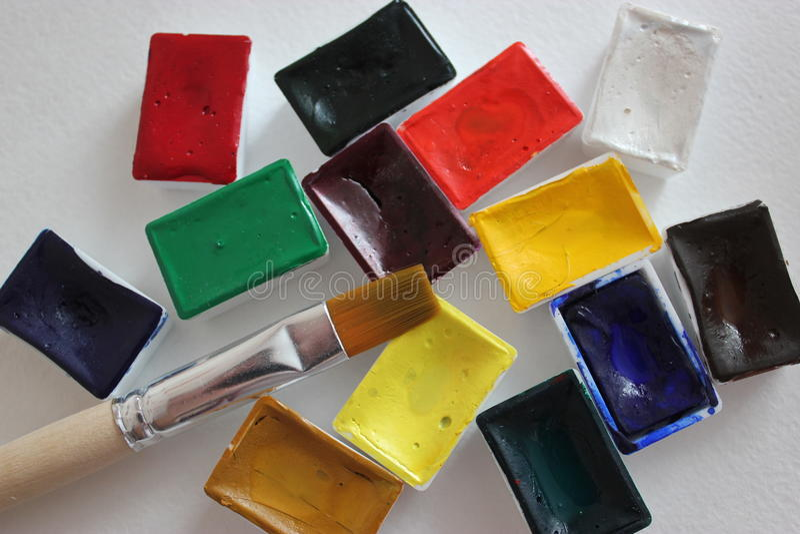 Acqua colore fotografia stock libera da diritti