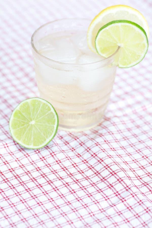 Acqua con il limone e la limetta fotografia stock libera da diritti