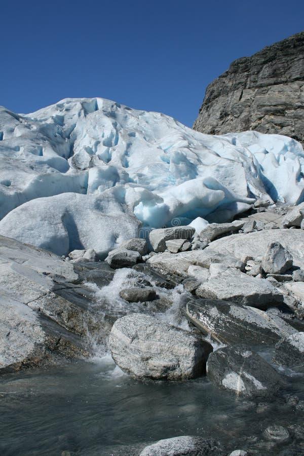 Acqua dal ghiacciaio immagini stock libere da diritti