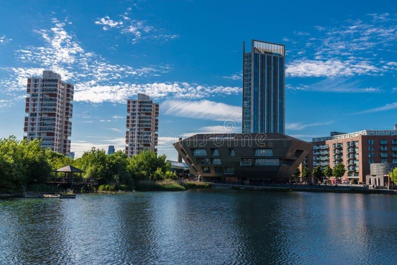 Acqua del Canada, paesaggio urbano Londra Regno Unito fotografia stock
