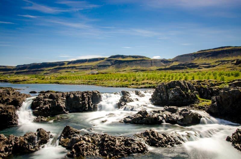 Acqua del ghiacciaio dell'Islanda fotografie stock libere da diritti