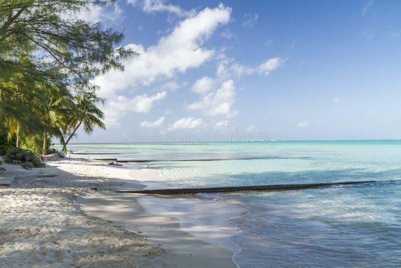 Acqua del turchese di Grand Cayman fotografia stock libera da diritti