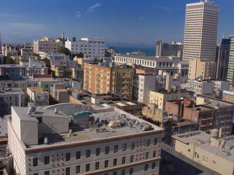 Acqua dell'orizzonte di San Francisco fotografia stock libera da diritti