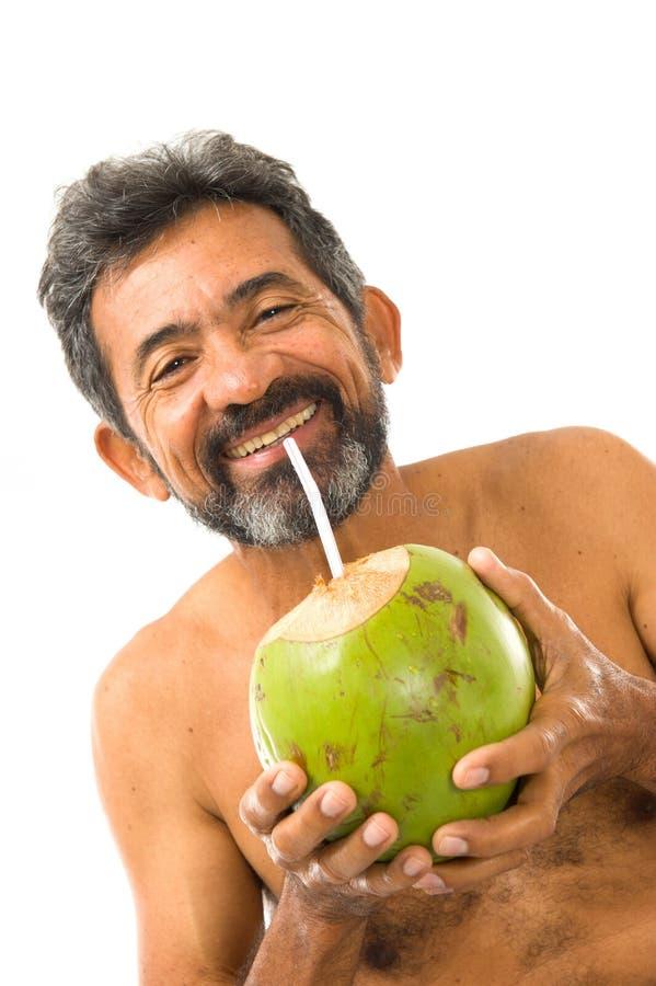Acqua della noce di cocco della bevanda immagine stock libera da diritti