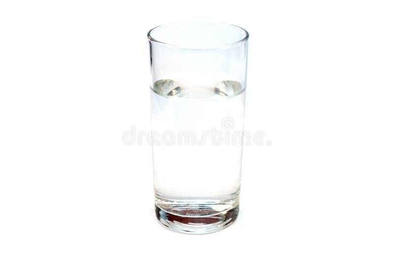 Acqua della radura di Stackpn chiara isolata su un bianco fotografie stock libere da diritti