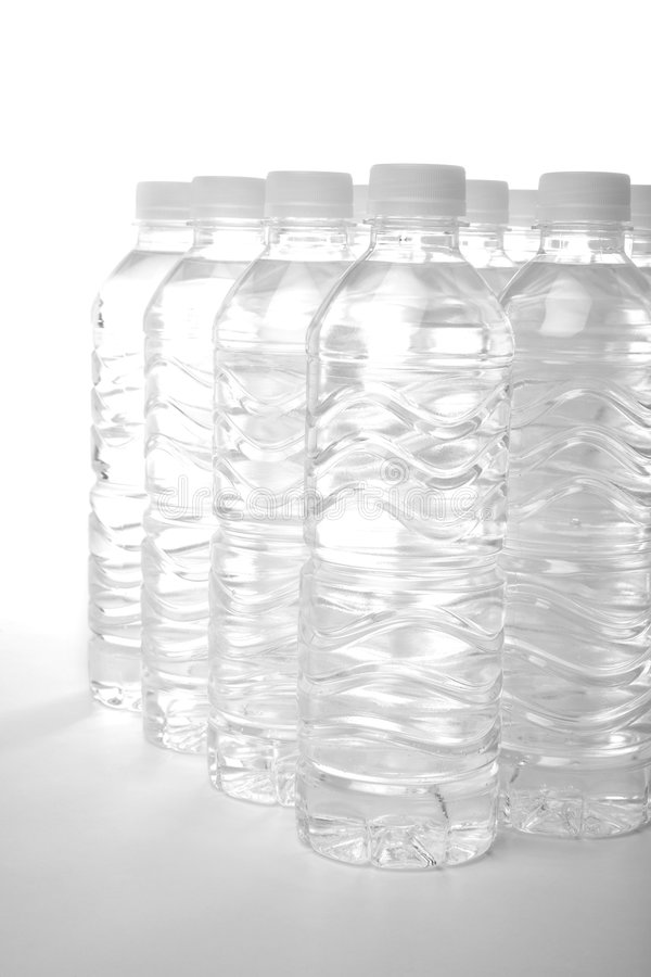 Acqua di bottiglia fotografie stock libere da diritti