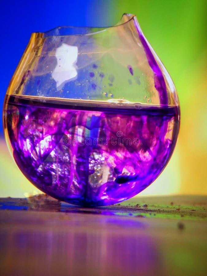Acqua di contesto completo di colore dell'arcobaleno immagini stock