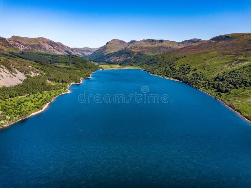 Acqua di Ennerdale in Cumbia, Regno Unito fotografia stock