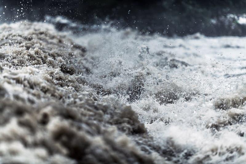 Acqua di inondazione fotografie stock