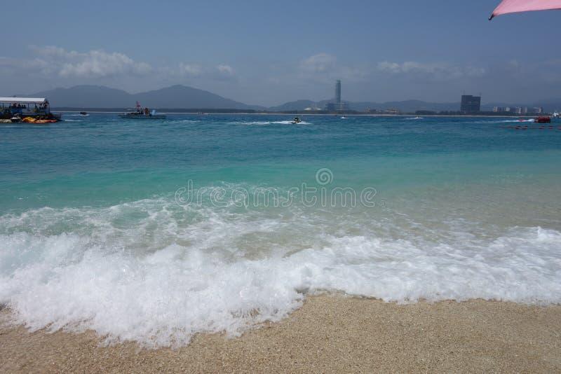 Acqua di mare in Hainan, Cina fotografia stock libera da diritti