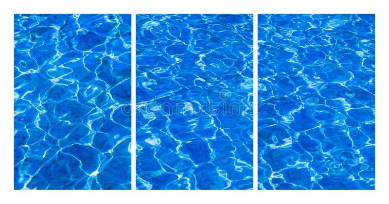 Acqua dolce del collage fotografia stock