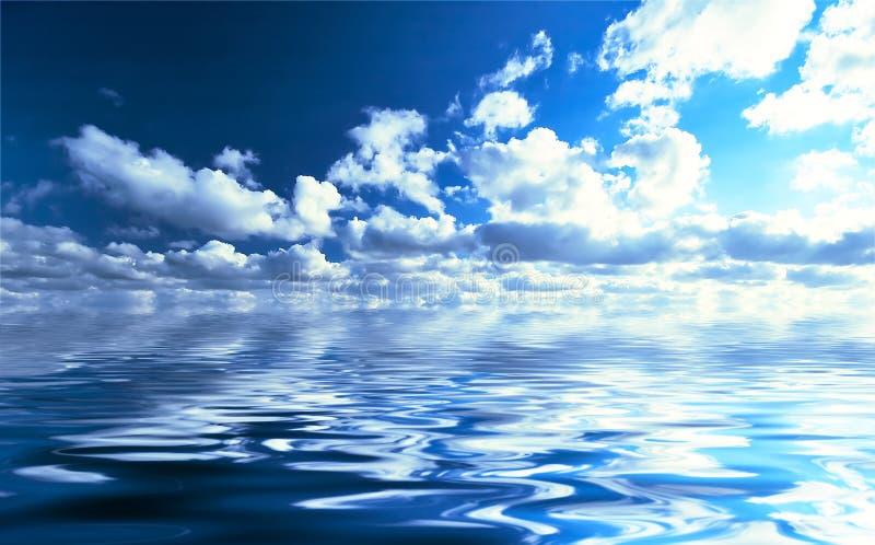 Acqua e cielo fotografie stock