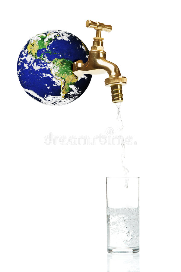 Acqua e mondo immagini stock libere da diritti