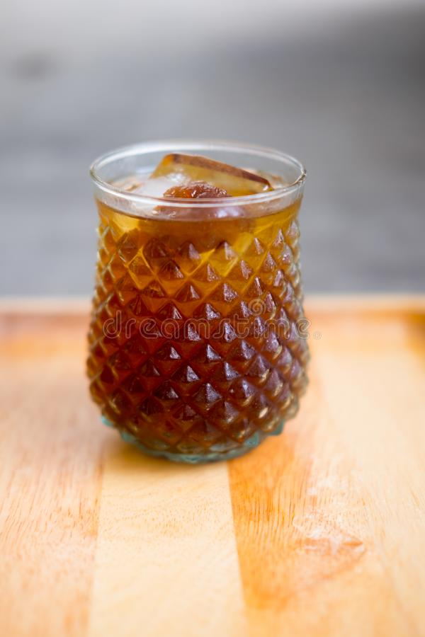 Acqua fredda del succo del Longan fotografia stock