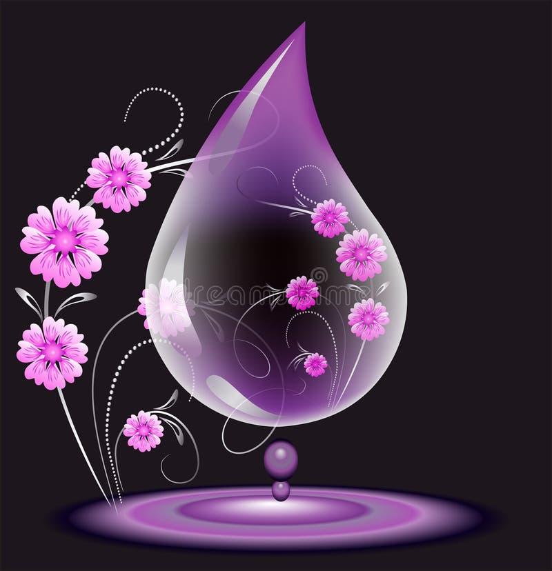 Acqua-goccia illustrazione di stock