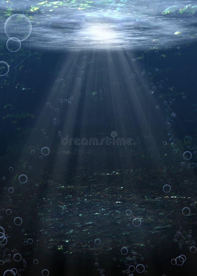 Acqua inferiore del fiume illustrazione di stock