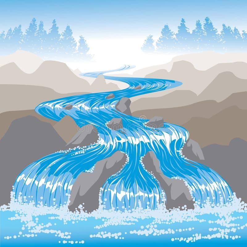 Acqua infuriantesi illustrazione vettoriale