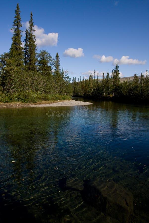 Acqua Limpid del fiume fotografia stock libera da diritti