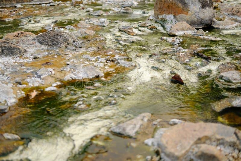 acqua minerale geotermica della sorgente di acqua calda immagini stock