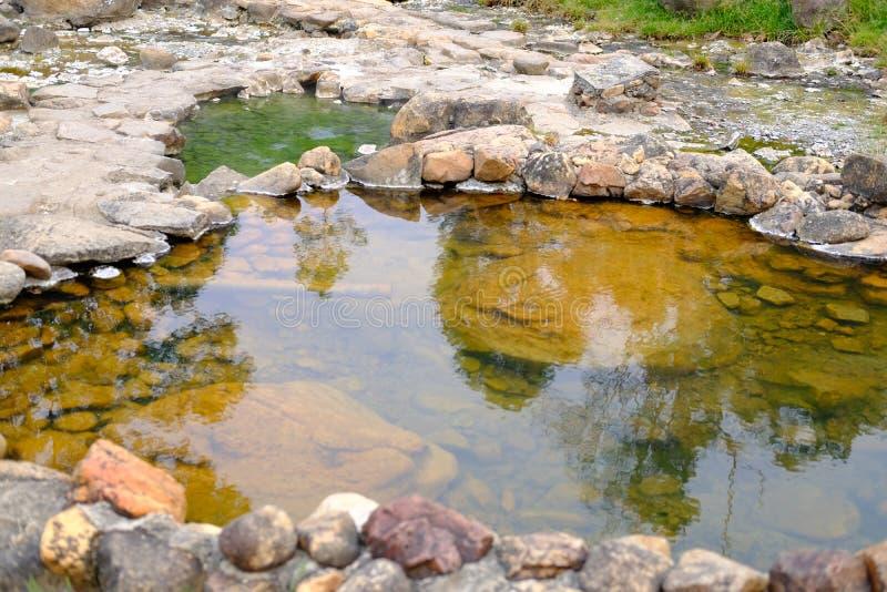 acqua minerale geotermica della sorgente di acqua calda immagine stock libera da diritti