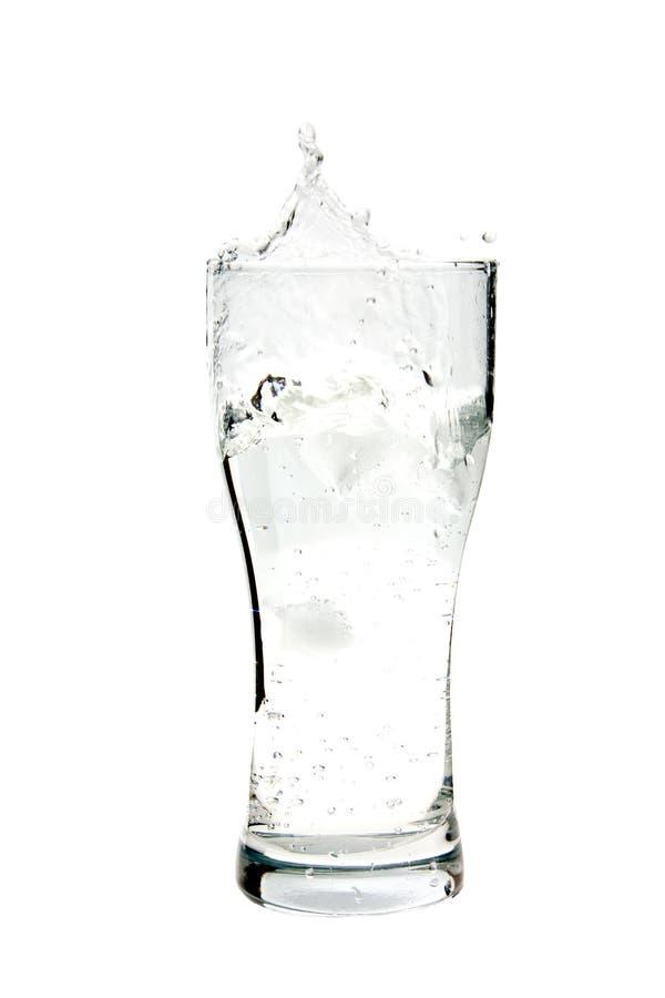 Acqua nel vetro, isolato fotografia stock