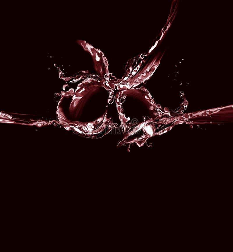 Acqua nera e rossa Belhi di natale fotografia stock libera da diritti
