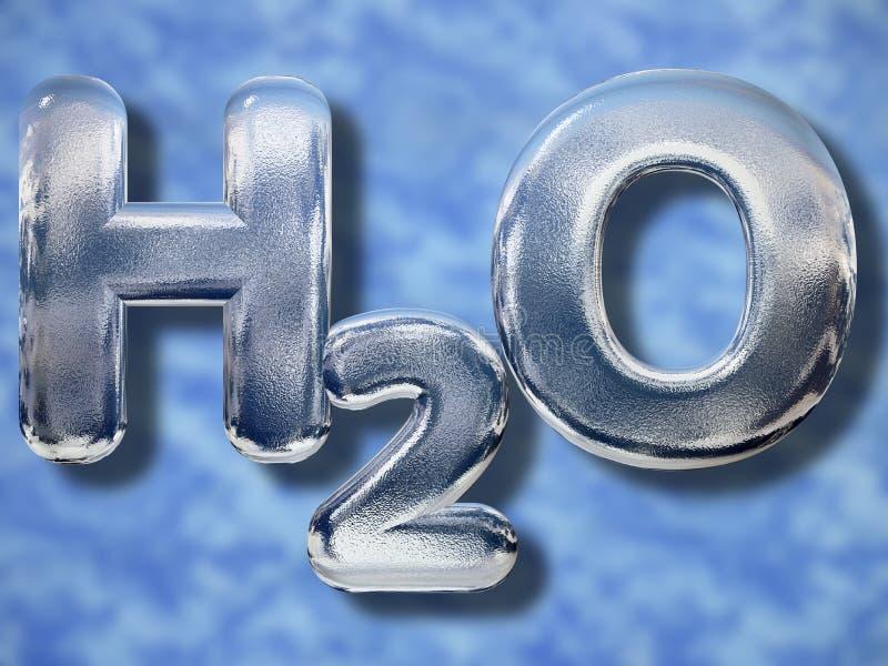 Acqua o concetto di H2O illustrazione di stock