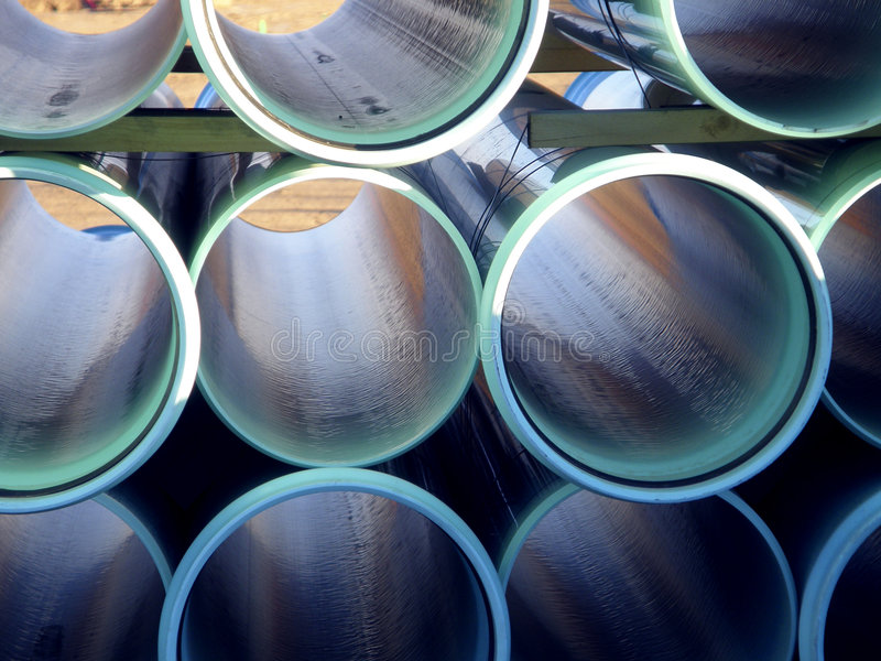 Acqua o tubi per fognatura fotografia stock