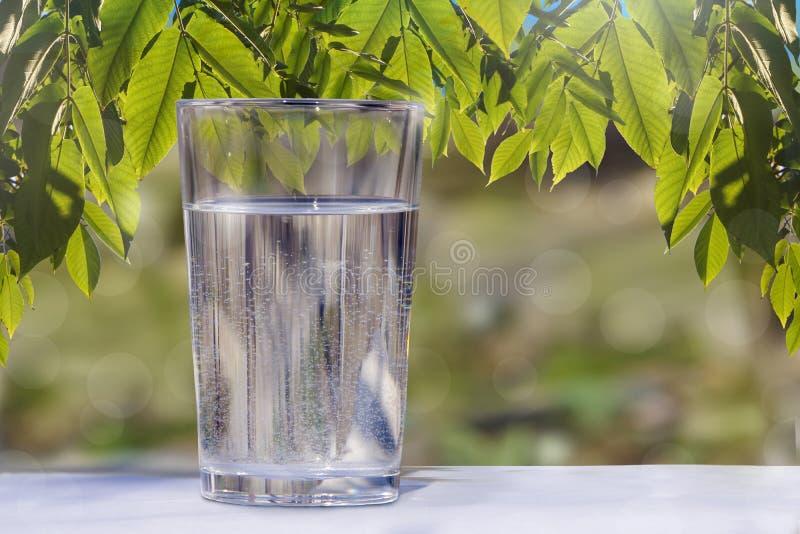 Acqua potabile in un bicchiere fotografie stock libere da diritti