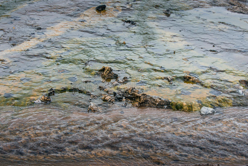 Acqua su superficie geotermica fotografia stock