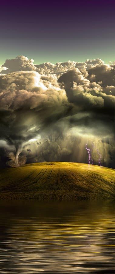 Acqua, terra, cielo illustrazione di stock