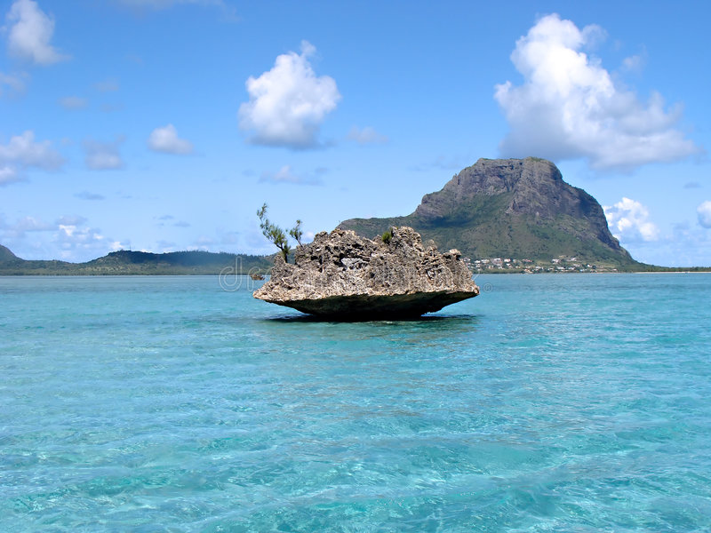 Acqua tropicale Isola Maurizio fotografia stock